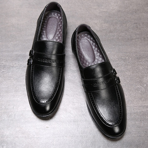 Image 3 - Autumn Men Dress Shoes Handmade British Style Paty Leather Wedding Shoes Men Flats Leather Oxfords Formal Shoes