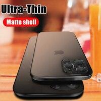 Custodia opaca Ultra sottile da 0.2mm per iphone 12 Mini X XR XS 11 Pro Max Cover completa per iphone SE 7 6 6s 8 Plus custodia rigida antiurto per PC