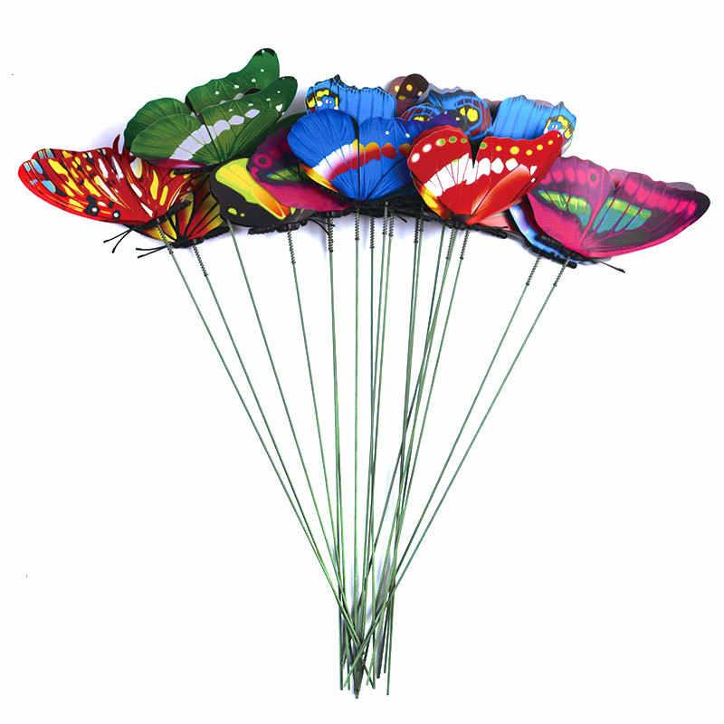 蝶の束 25 センチメートル庭プランターカラフルな気まぐれな蝶ステークス屋外装飾植木鉢装飾