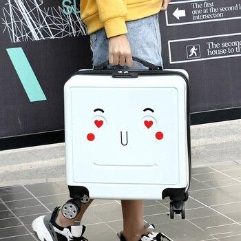 "18""20''Cartoon Cute Suitcase Light Luggage чемодан на колесах Trolley Travel Luggage чемодан детский"