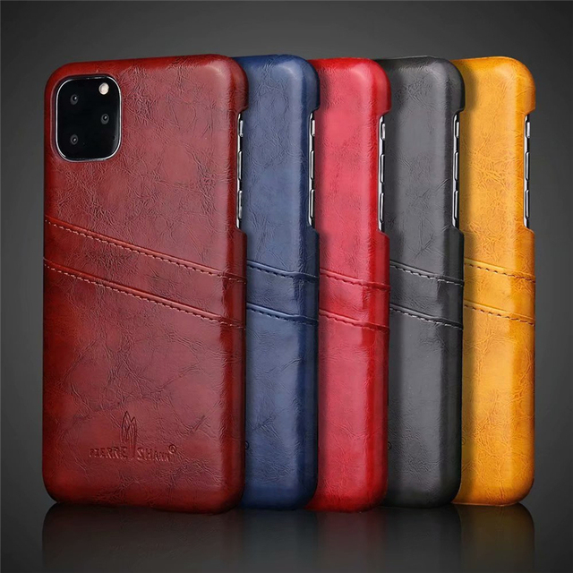 Slim Hard Leather Card Holder Case for iPhone 11/11 Pro/11 Pro Max