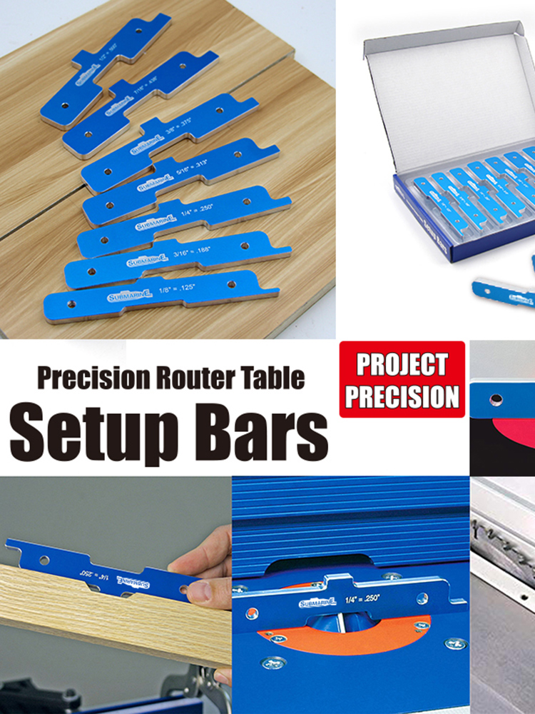 7pcs/Set Kreg PRS3400 Precision Router Table Set Up Bars Woodworking Bakelite Table Saw Gauge Precision Router Table Set Up Bars