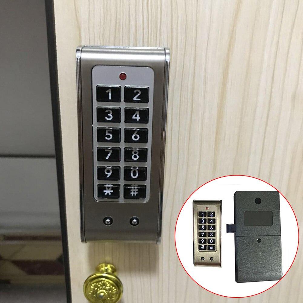 Image 5 - Домашняя дверь, противоугонная клавиатура, пароль, замок для шкафа, ящик, безопасность, Цифровая Электрическая защита, офисные шкафы, нержавеющая стальЭлектрический замок    АлиЭкспресс