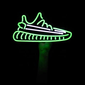 HD004 SHOES YEZZY  GREEN AND WHRITE  Neon Light Custom Neon Sign