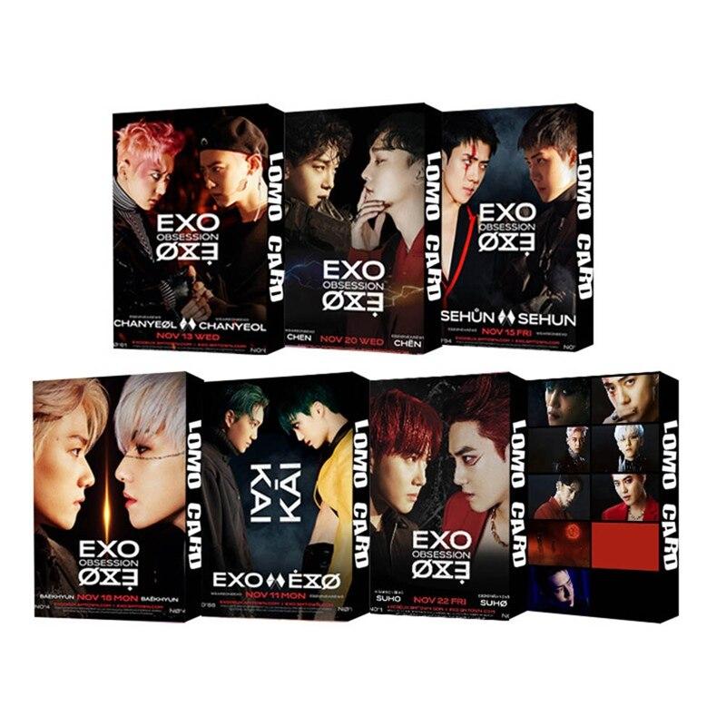 Новинка 30 шт./компл. KPOP EXO Новый одержимый 6-й альбом Фотокарточка самодельная ломо-карточка Фотокарточка