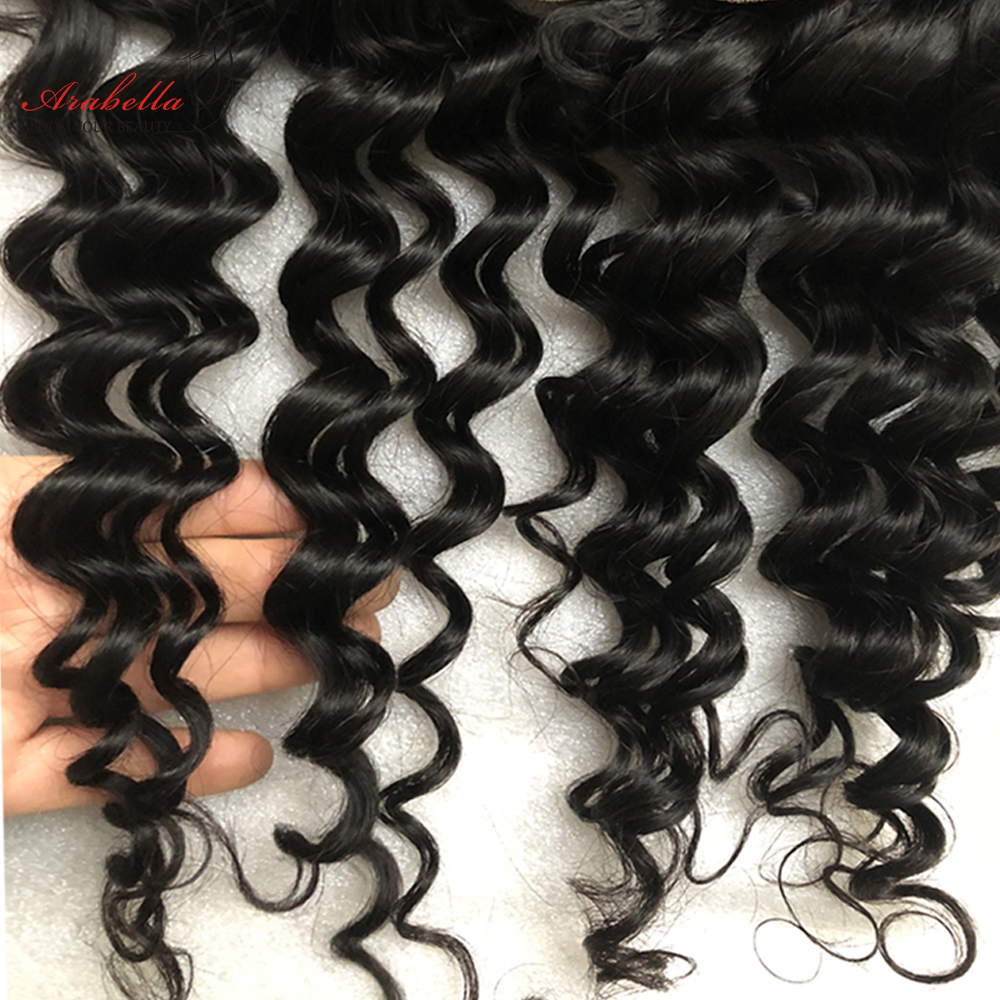 13x4 Lace Frontal Deep Wave Ear To Ear With Baby Hair  Arabella PrePlucked Bleached Knots Lace Frontal Closure 5