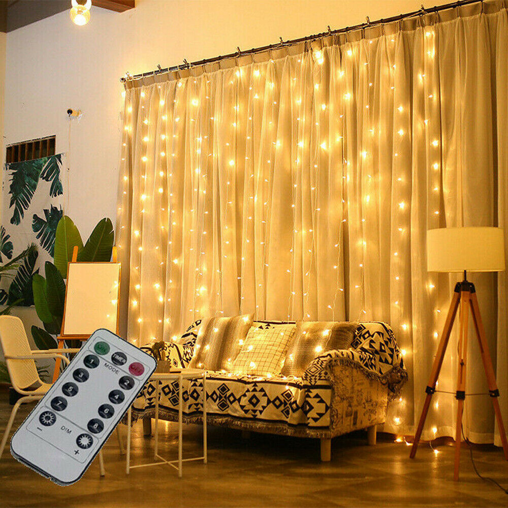 3M String LED Fairy Lights Garland Curtain Lamp USB Remote Control New Year Christmas Decorations for Home Bedroom Window