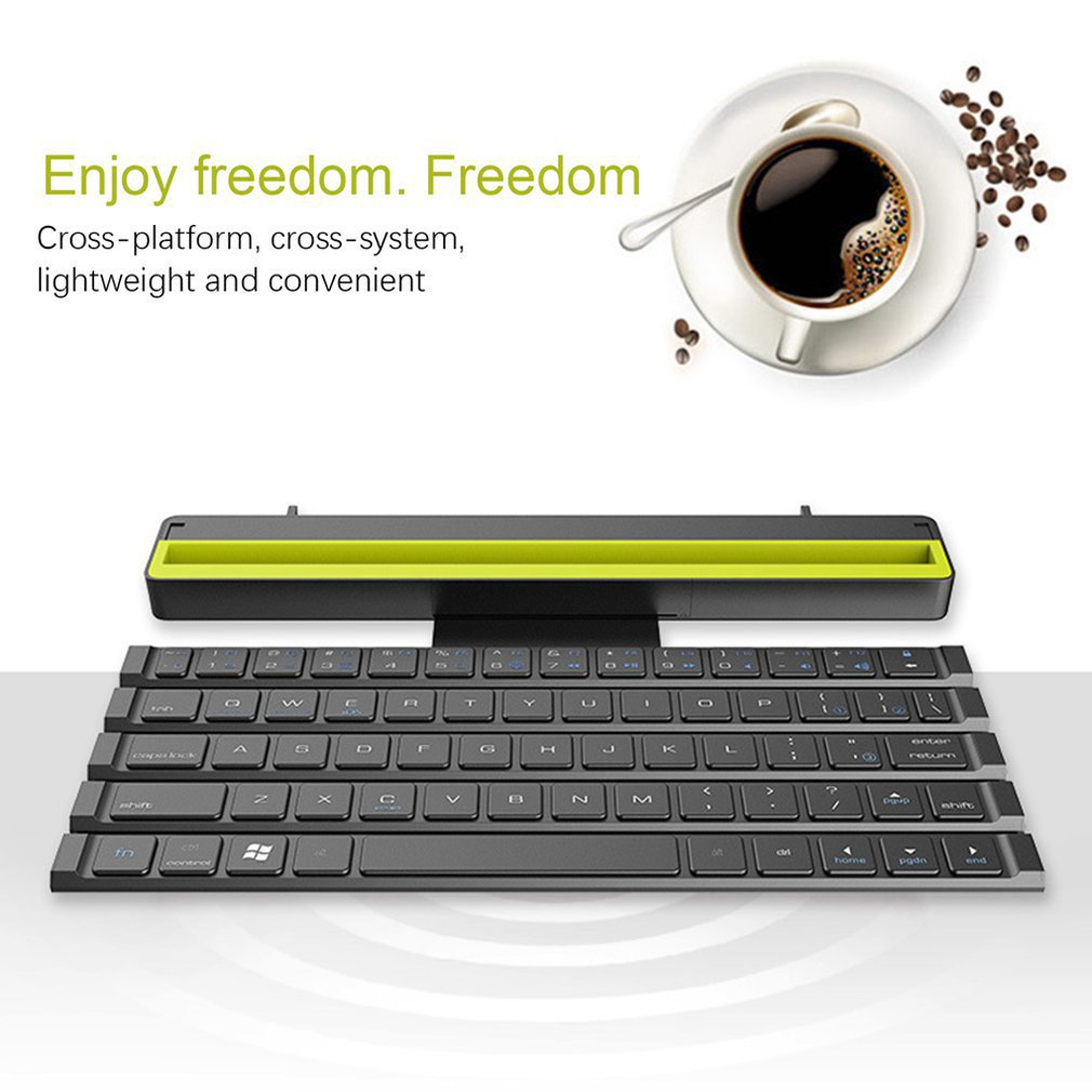 Portable Roll Folding <font><b>Keyboard</b></font> Wireless <font><b>64</b></font> Keys Reel Mini Foldable <font><b>Keyboard</b></font> for Tablet Laptop Smartphone image