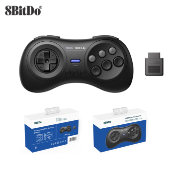 8BitDo M30 2.4G Wireless Gamepad for Sega Genesis/Sega Genesis Mini/Mega Drive Mini Game Controller 10pcs for sega mega drive 112 in 1 game card cartridge 16 bit md game card for sega genesis freeshipping