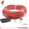 6k 66ohm cabo de aquecimento de fibra de carbono de borracha de silicone 5 v-220 v piso aquecimento baixo custo fio de aquecimento infravermelho de alta qualidade