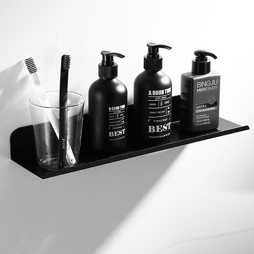 Черный ванная комната полки душ ванна хранение держатель кухня органайзер стойка шампунь душ тележка стойка ванная аксессуары