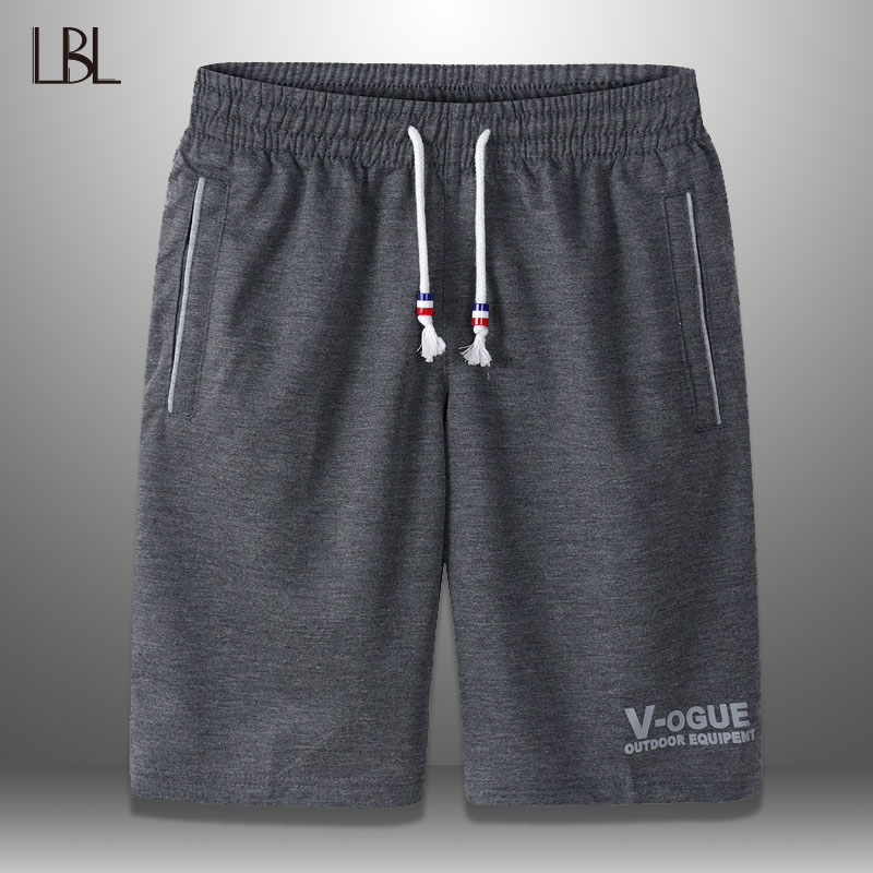 LBL Casual Summer Shorts Men Breathable Fashion Bodybuilding Boardshorts Male Steetwear Mens Short Trousers Finness Clothing 6XL