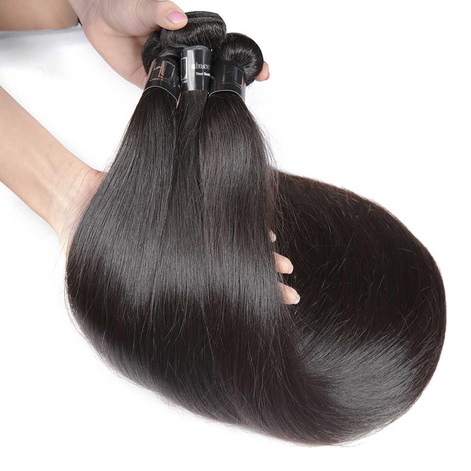 Brasilianische Haarwebart Bundles Gerade 7A Remy Haar 8-36 38 40 Zoll Menschliches Haar Bundles 1/3/4 PCS Haar verlängerung HJ Weben Schönheit