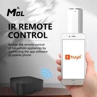 MOL Tuya-Control remoto inteligente por infrarrojos, WiFi, Universal, para aire acondicionado, TV, CA, DVD, funciona por voz con Alexa y Google Home