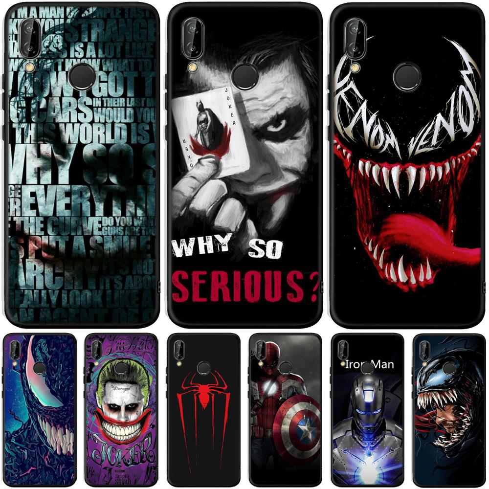 Venom Joker Case For Huawei P Smart 2019 P30 P20 Lite Mate 20 Pro Y5 Y6 Y7 Y9 Prime 2019 P Smart Plus Soft TPU Silicone Cover