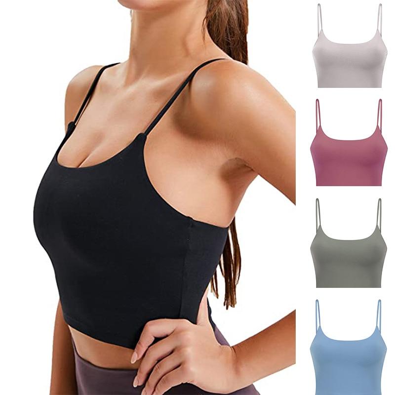 Women Padded Sports Bra Fitness Workout Running Shirts Yoga Tank Top 1