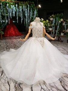 Image 4 - 2019 nouveau Bling Bling fleur fille Dresse pour fête de mariage filles Pageant robes cristlas première Communion robes pour petite fille