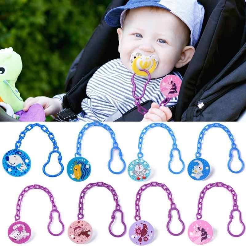 Animais dos desenhos animados forma chupeta clipes mamilo seguro pp cinta chupeta animal clipe de corrente suportes bebê recém-nascido alimentação acessórios