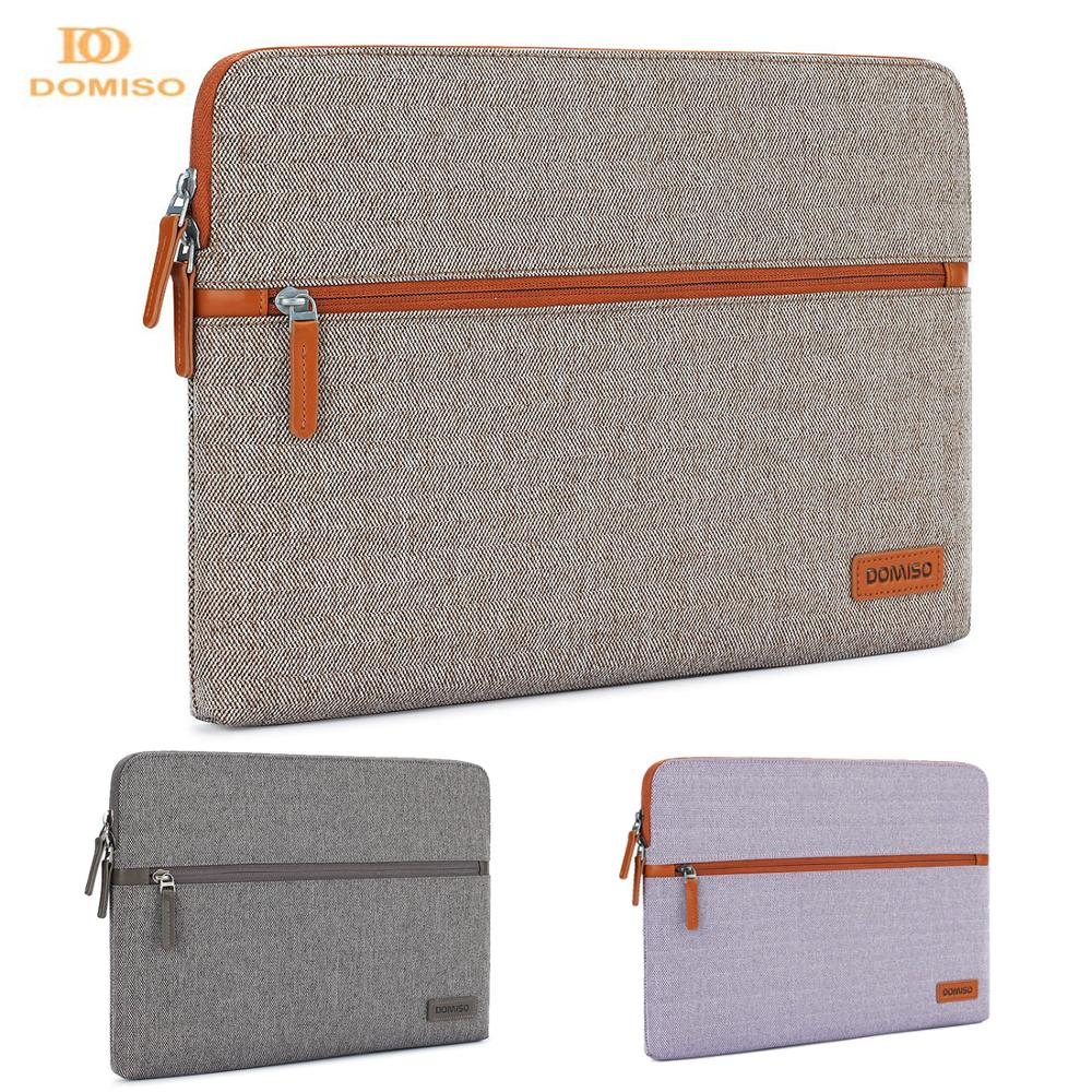 DOMISO 11 13 14 Inch Laptop Sleeve Canvas Fabric Tablet Protective Bag for Laptops font b