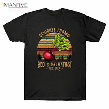 Schrute Farms Bed & Breakfast The Office Dwight Vintage Tshirt Cotton Men S-6XLCool Casual pride t shirt men Unisex Fashion