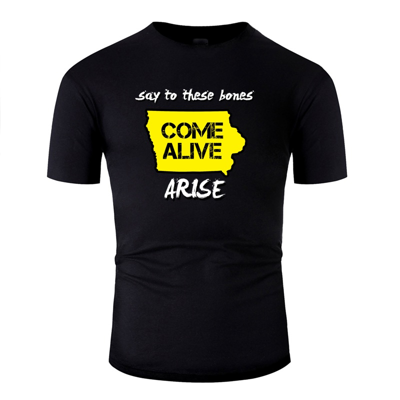 Funny Come Alive <font><b>Iowa</b></font> Tshirt For Men Kawaii O-Neck Adult T <font><b>Shirts</b></font> Plus Size S-5xl Hiphop Tops image