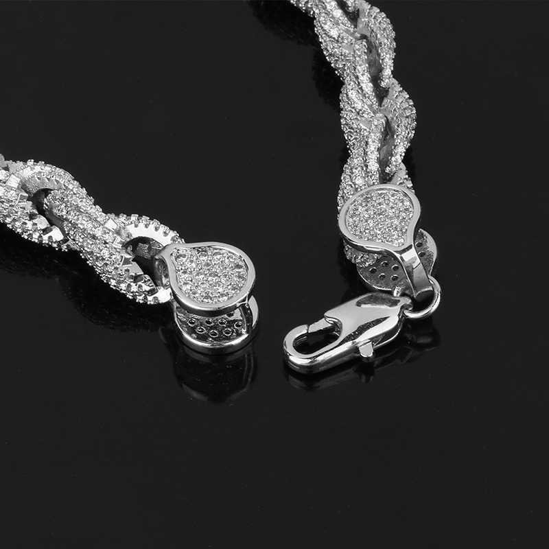 Пользовательские фото Медальоны памяти цельнолитой кулон ожерелье с сияющими большими кристаллами в стиле хип-хоп ювелирные изделия для мужчин 8 мм большая Веревка Цепи коробка