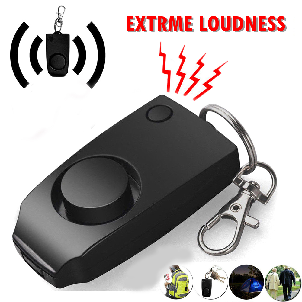 Loud Keychain Emergency Alarm Alarm 130dB Women Security Protect Attack Self-defense Emergency Keychain Anti Rape