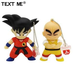 Image 1 - Văn Bản Tôi Bút 4GB 8GB 32GB 64GB Hoạt Hình Rồng Bóng Goku Kuririn Pendrive 16Gb đèn LED Cổng Usb
