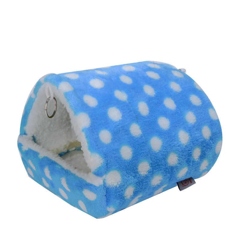 1pc 4 tamanho Verme Inverno Rosa Ponto Azul Hamster Gaiola Guiné Porco Gaiola Rede Pendurado Cama Dormindo Do Planador do Açúcar brinquedo pequeno Animal de Estimação Fornecimento