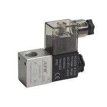 цена 12V 24V 220V Volt Pneumatic Electric Solenoid Valve 2 Position 2 Port Normally Closed Air Magnetic Valve 6mm 8mm Hose Connection онлайн в 2017 году