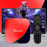 X88 PRO TV Box Android 9.0 4GB RAM 64GB Google Assistant vocal RK3318 Quad core Wifi Youtube 4K décodeur argent or rouge H96