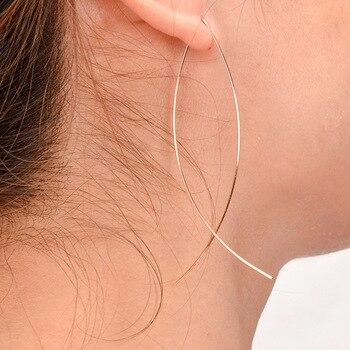 2019 new simple abstract art copper fish-shaped handmade stud earrings earrings ladies earrings modern fashion jewelry wholesale