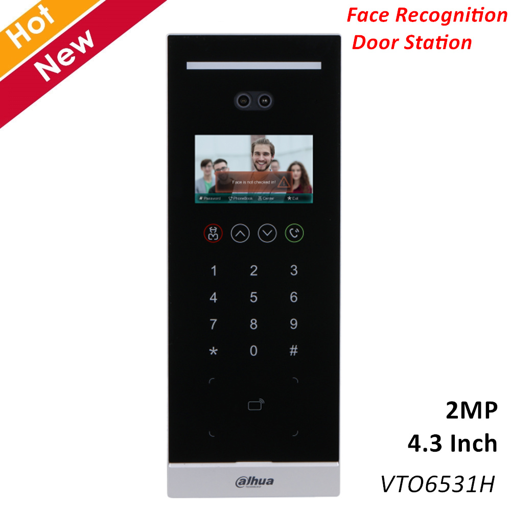 Dahua Face Recognition Door Station 4.3 Inch IPS Display 2MP CMOS Support Liveness Detection Video Intercoms Accessory VTO6531H
