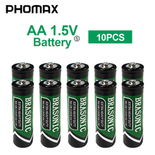PHOMAX aa batterie Carbon zinc 10pcs/pack LR6 AM3 E91 dry cell Disposable battery for calculator remote control toy game battery sale 4 10pcs 1 5v lithium aa battery 3000mah lr6 am3 2a lifes2 cell dry primary battery for camera and toys electric shaver