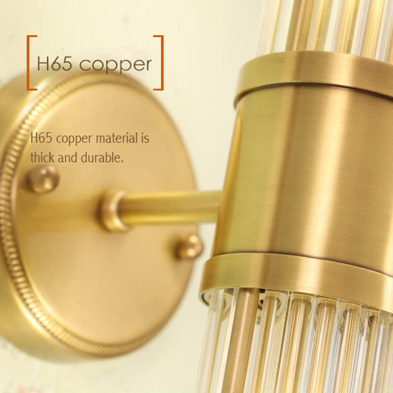Preto de cobre moderno lâmpada parede para o quarto lâmpada cabeceira sala estar corredor lâmpadas parede do banheiro luz iluminação casa luminárias - 5