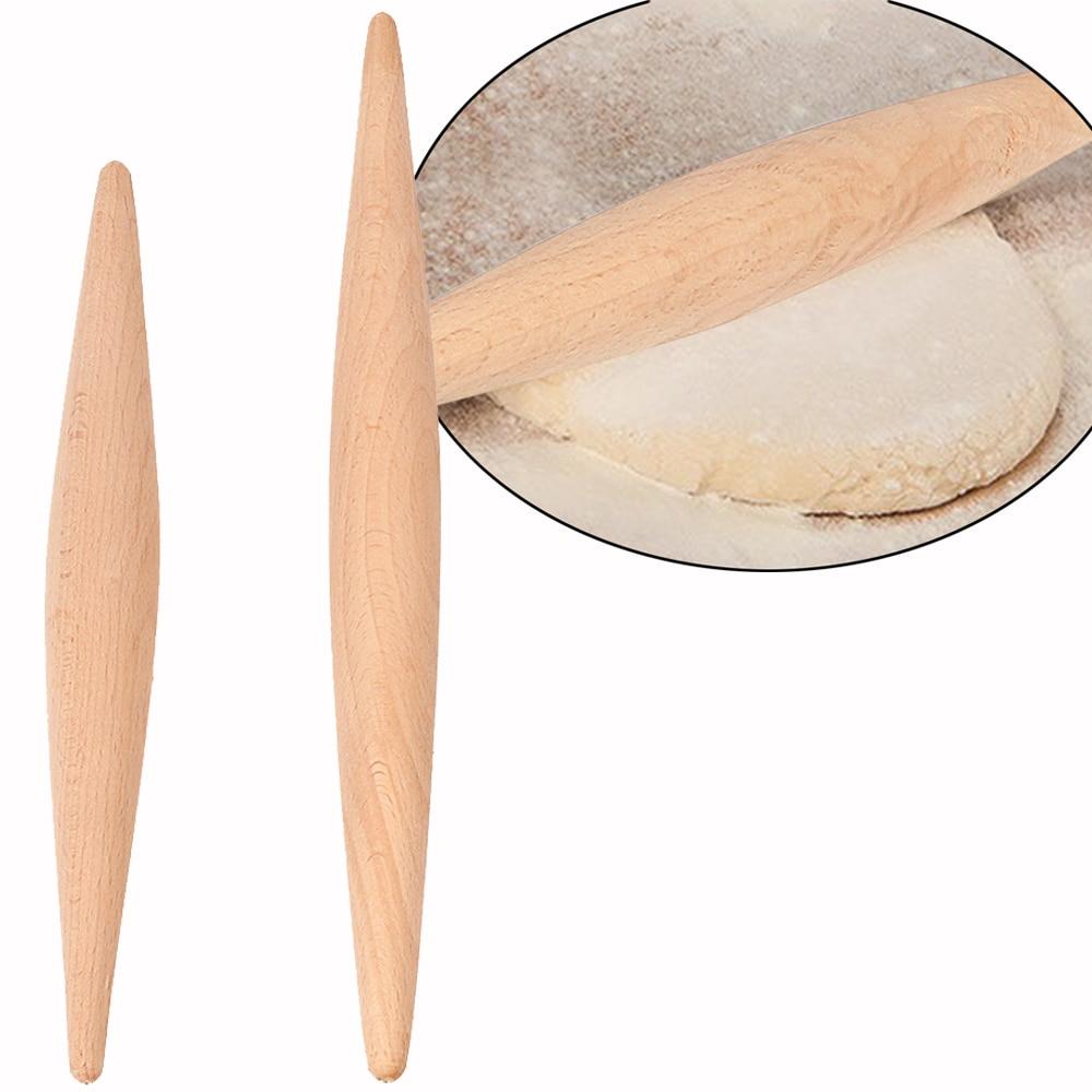 23cm/28cm Dough Roller Wood Non-Stick Double Tip Fondant Cake Pasta Dumpling Skin Maker Bakeware Rolling Pin Cooking Tool