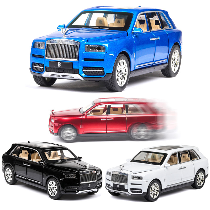 1:24 Rolls Royce Cullinan Car Model Metal Model Car Alloy Die-casting Car Children's Toy Gift Collectibles Free Shipping