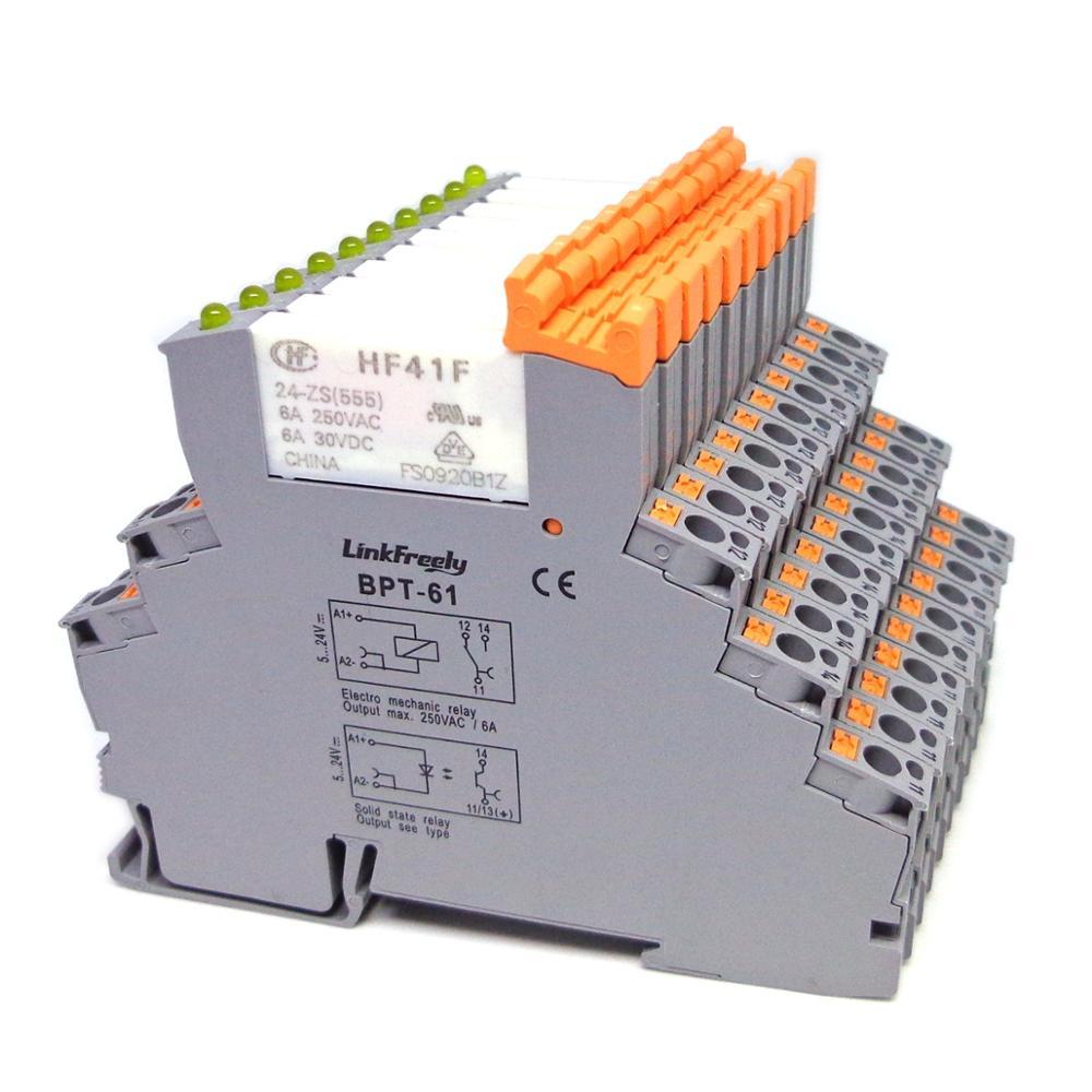 Size : 10 Way Jumper GPQHSM 10 st/ücke Blattrelais BPT-61 HF41F-24-ZS HF41F-12-ZS HF41F-5-ZS 6A 1CO HF41F 5V 12V 24V Waferrelais