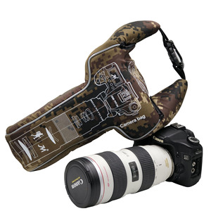 Image 1 - 삼각형 위장 디지털 dslr 카메라 비디오 가방 렌즈 튜브 shockproof 스포츠 사진 보호 케이스 펜탁스 캐논 니콘에 대한
