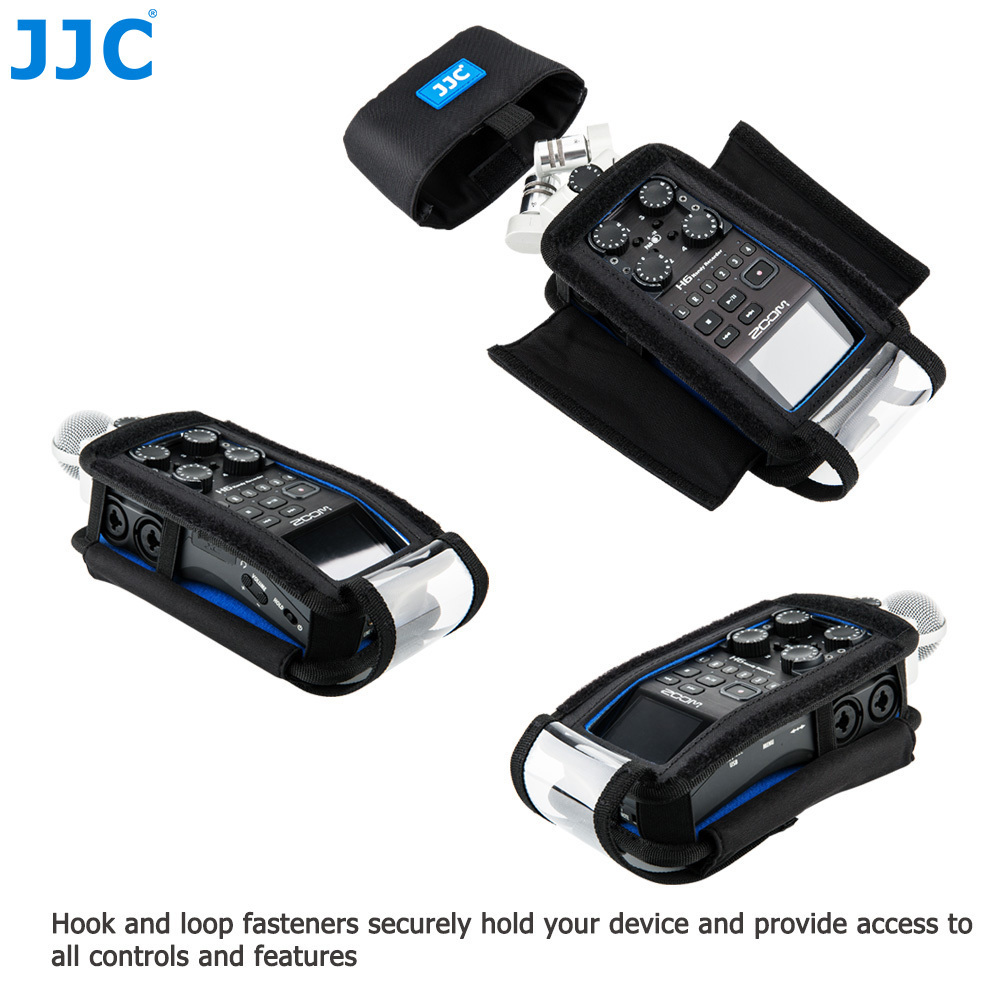 cheapest JJC Camera Holder Record Pouch for Zoom Records H6 H5 H4n H4n Pro Handy Video Digital Recorder Protector Accessories Soft Bag