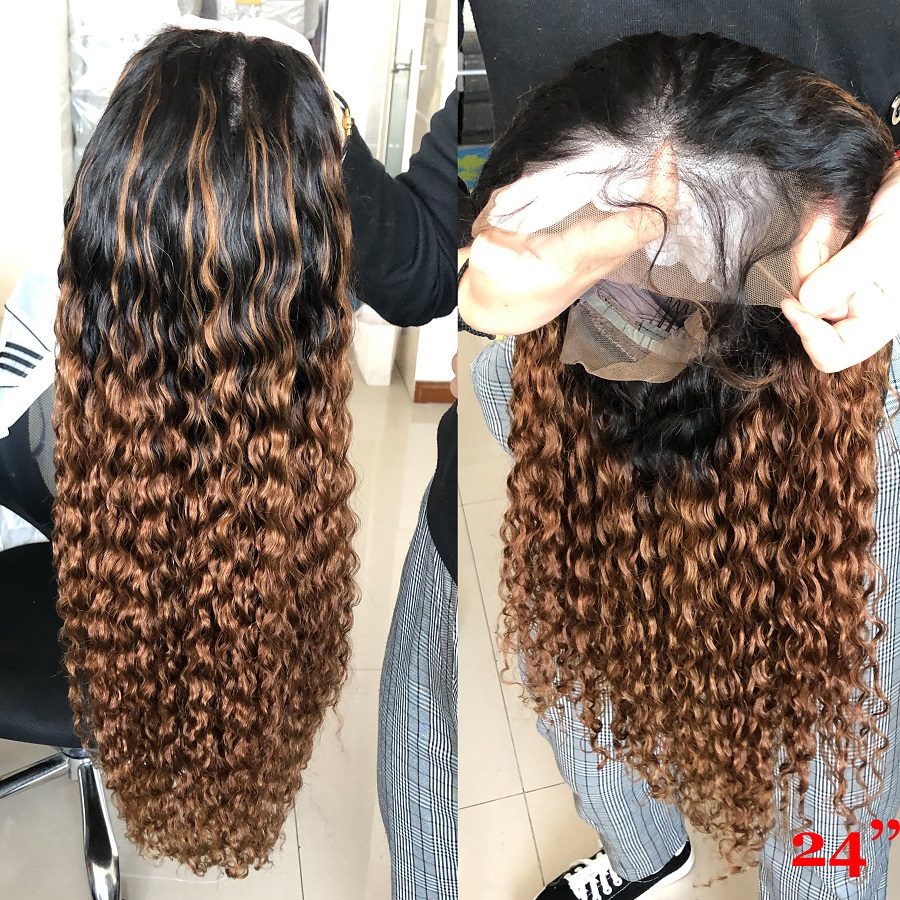 Special Price 13x6 1b 30 Curly Lace Front Human Hair Wigs