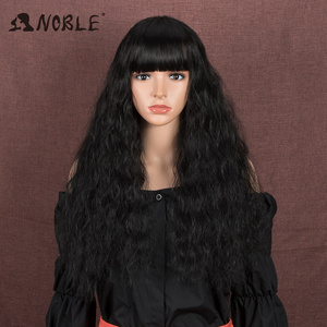 Noble Synthetic Wig With Bangs Cosplay Wig Long Wavy Womens Wig Colored Wig Ombre Blonde Wigs For Women Synthetic Wig