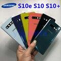 Задняя крышка батареи для Samsung Galaxy S10, S10 Plus, S10E, G973, G975, со стеклянной рамкой для объектива камеры