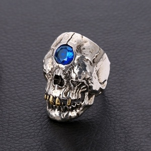 Vintage Stainless Steel Skull Ring Ancient Greek Myth Cyclops Rings for Motorcycle Party Steampunk Gothic Rings for Men Jewelry(China)
