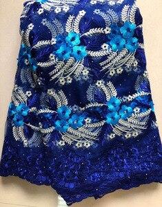 Image 3 - 2020 африканская сетчатая кружевная ткань, Высококачественная элегантная нигерийская Свадебная Кружевная Ткань 5 ярдов, французское Тюлевое кружево с камнями HLL4587 HLL5092