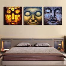 Modern HD paintings wall decor 3 panel abstract religious Buddha statue artist bedroom sofa wall background painting COLOMAC(China)