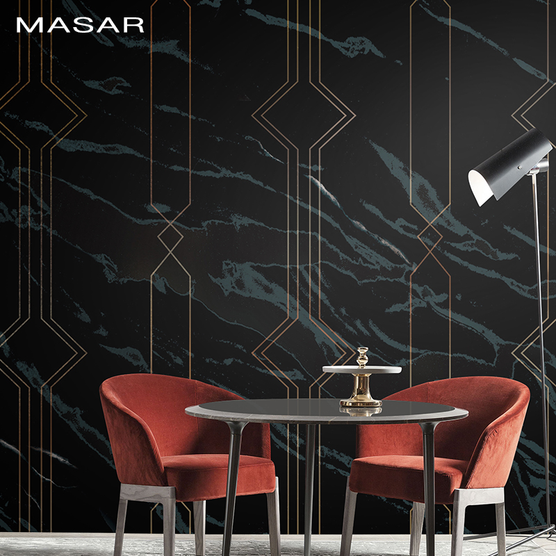 MASAR Original Simple Wall Painting Imitation Marble Pattern Kitchen Sofa Television Bedside Background Wall Wallpaper Marble