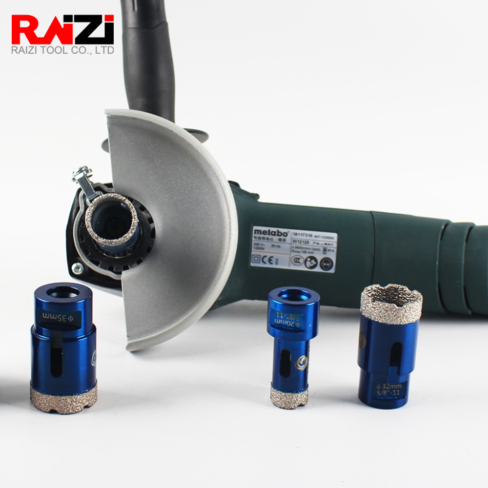 Raizi Vacuum Brazed Diamond Coated Core Hole Saw Drill Bits For Porcelain Tile,Ceramic,Granite,Marble Stone,Concrete 1 Pc