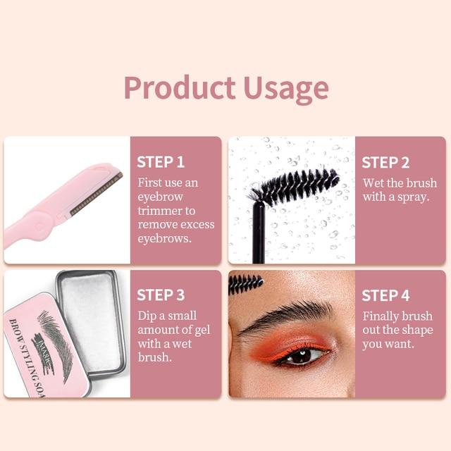 IMAGIC Eyebrow Shaped Gel Natural Molding Three-Dimensional Eyebrow Cream Eyebrow Set Gel Fixed Makeup Eyebrows Makeup 5