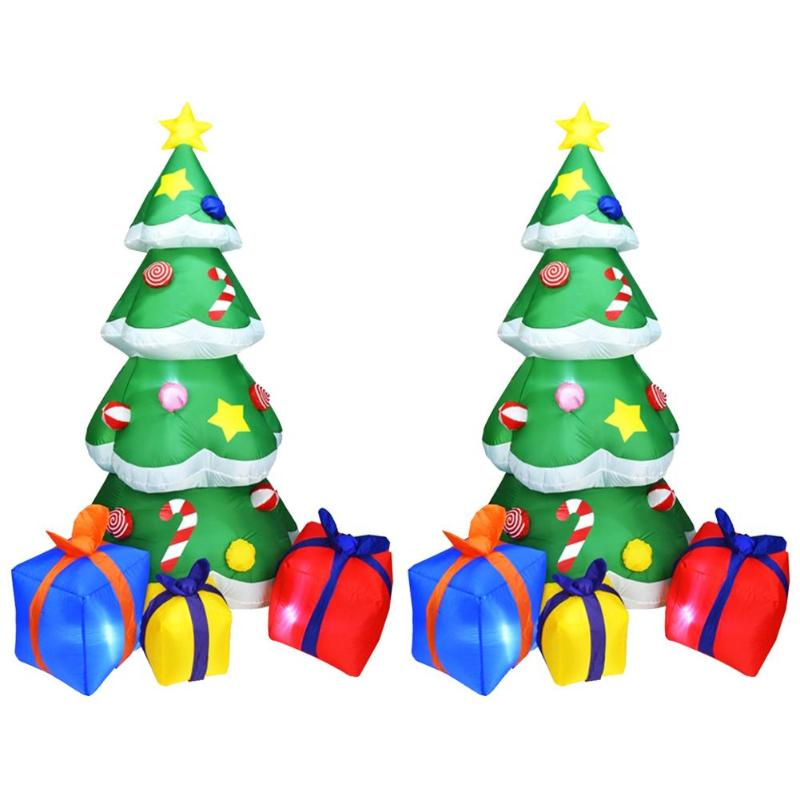 1.5/2.1m Inflatable Christmas Tree 3D LED Christmas Decoration  For Home Outdoor Shop Display Window Decoration For ChristmasTrees   -